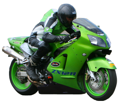 green motorcycle picture